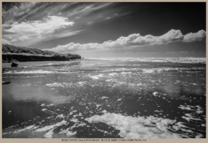 CALIFORNIA, Marin County, Pacific, beach, clouds, foam, kehoe beach, ocean, photograph, point reyes, point reyes seashore, reflections, storm break, sun, surf